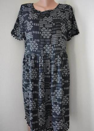 Распродажа!!!натуральное платье с принтом george1 фото