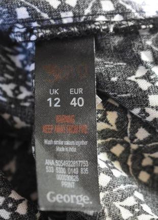 Распродажа!!!натуральное платье с принтом george4 фото