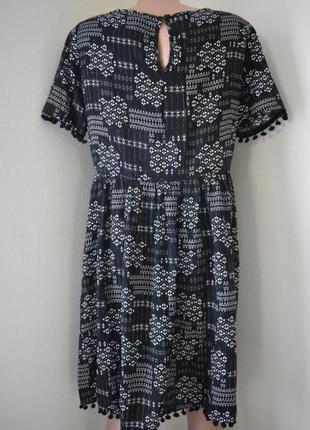 Распродажа!!!натуральное платье с принтом george3 фото