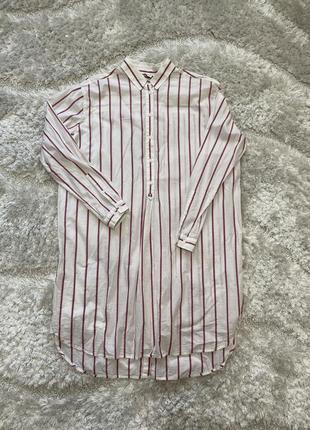 Удлиненная рубашка.
