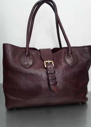 Кожаная сумка liz cos, 100% кожа