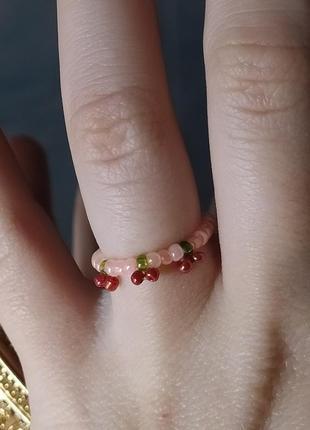 Кольцо с вишенками
