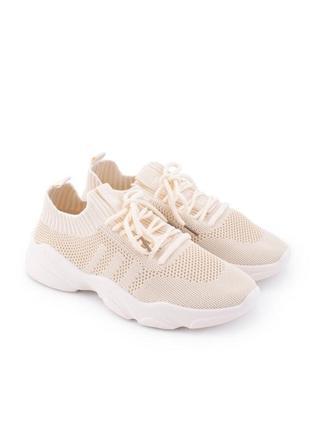Женские бежевые кроссовки