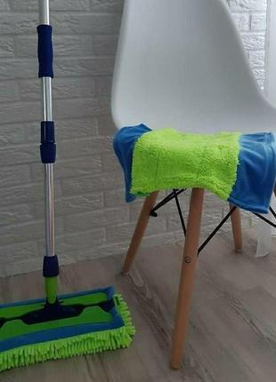 Универсальная швабра с двумя насадками aquamatic mop