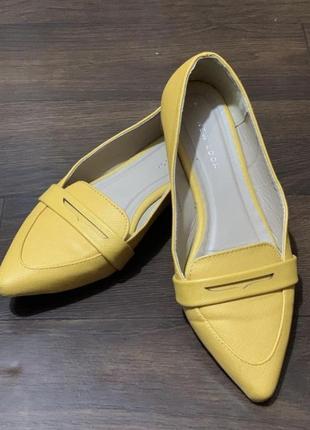 Туфли балетки лофер на широкую ногу