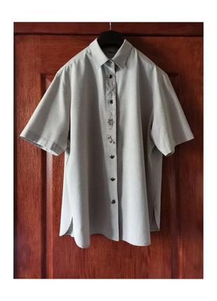 Льняная винтажная рубашка оверсайз свободная рубаха imperial landhaus