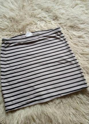 H&m юбка полосатая