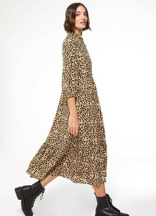 Вискозное миди платье
