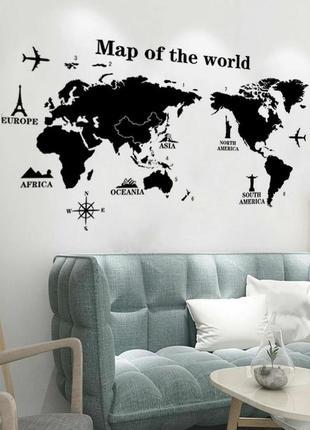 Мапа мира😍🌊 скретч карта, декор стены, карта мира, map of the world, наклейки на стену2 фото