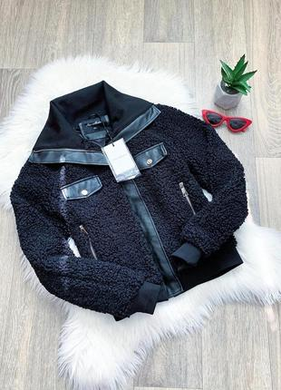 Новая! стильная куртка из эко-меха под барашка 😍