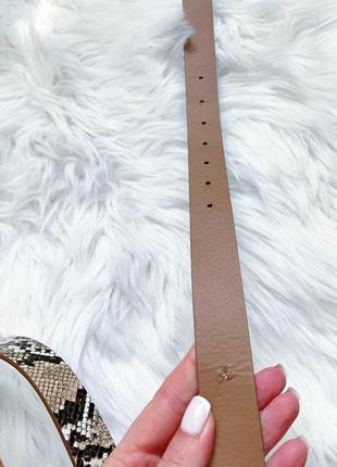 Стильный пояс в стиле gucci со змеиным принтом 😍5 фото