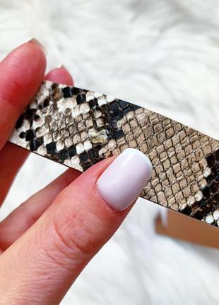 Стильный пояс в стиле gucci со змеиным принтом 😍4 фото