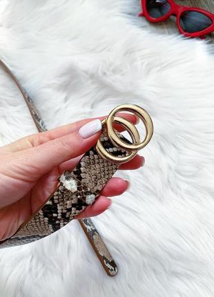 Стильный пояс в стиле gucci со змеиным принтом 😍2 фото