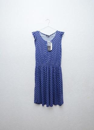 Милое платье в горошек новое с биркой