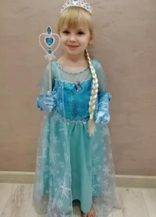 Платья эльзы для маленьких принцесс