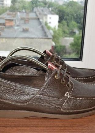 Bally top sider мужские кожаные туфли