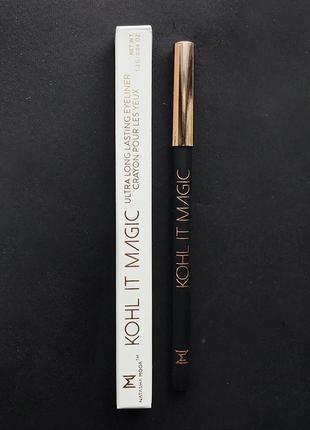 Стойкий контурный карандаш natasha moor kohl it magic black eyeliner подводка3 фото