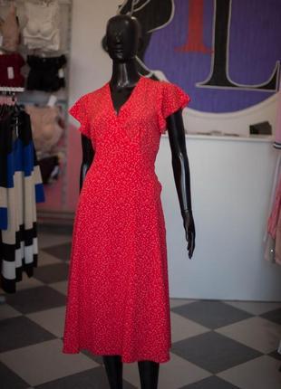 Красивое платье ретро миди в горох на запах от wearme