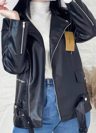 Куртка косуха оверсайз / байкерская куртка