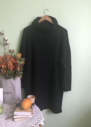 Тренд 2017 тепле плаття- гольф - туника сукня з горловиною стиль zara
