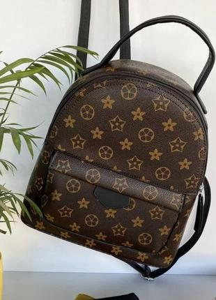 Женский каркасный рюкзак в стиле lv
