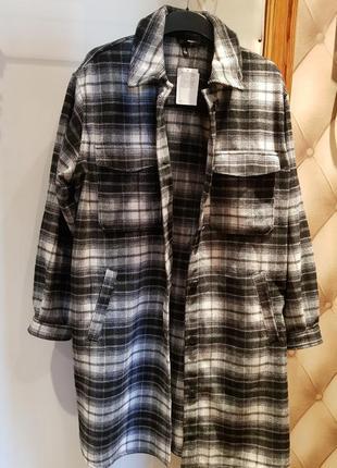 Пальто - рубашка h&m