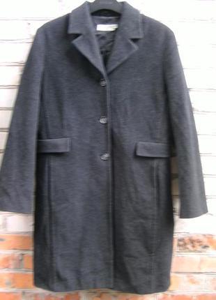 Шерстяное классическое пальто с кашемиром, оверсайз, more&more.