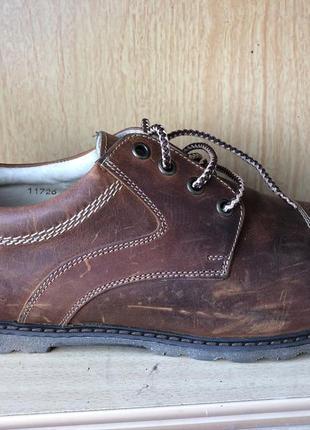 👩🏻🚒кожаные туфли мужские рыжие демисезонные 45рр
