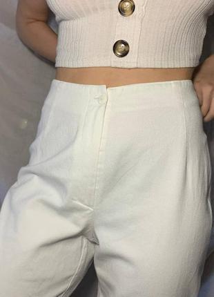 Белые штаны , широкие , в корейско-японском стиле , аниме