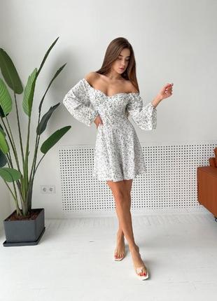 Молочне плаття на весну літо