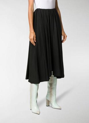 Асимметричная юбка jil sander из последних коллекций лен в составе оригинал лен в составе