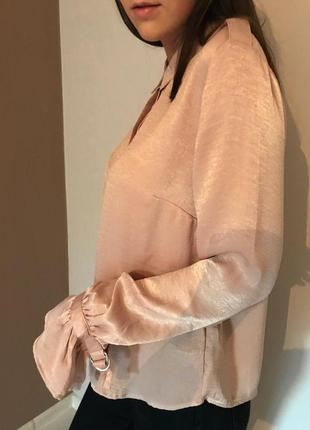 Розовая блуза stradivarius