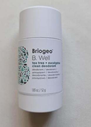 Натуральный дезодорант briogeo