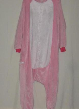 Пижама - слип, женская, кигуруми, размер 48. единорог. см мерочки.