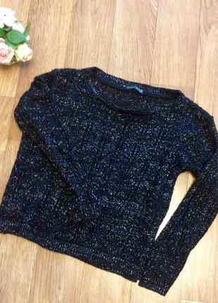 Черный свитер с люрексом