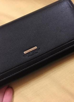 Новый кошелёк натуральная кожа чёрный