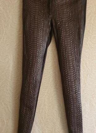 Штаны брюки лосины леггенсы кожа кожаные питон
