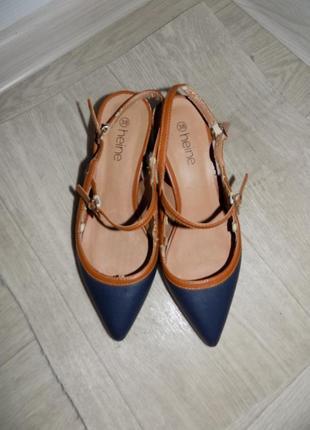 Стильные туфли лодочки с открытой пяткой