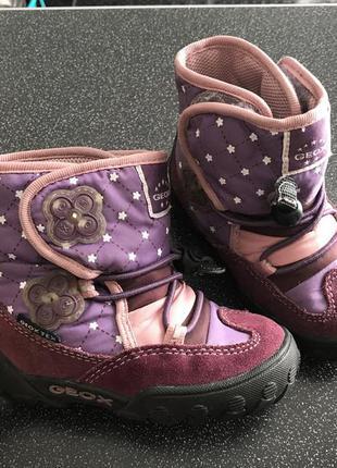 Зимние ботинки geox джеокс на девочку 23р. (13см)