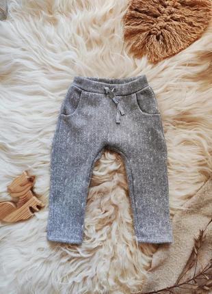 Штаны штанишки в ёлочку брючки спортивные тёплые