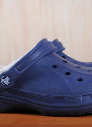 Синие утепленные шлепанцы, сабо crocs, крокс. 40 размер. оригинал