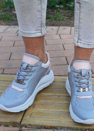 Кожаные женские кроссовки размер 36,37,38,403 фото