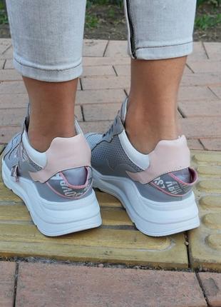 Кожаные женские кроссовки размер 36,37,38,402 фото