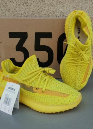 Adidas yeezy boost 350 reflective кроссовки женские желтые