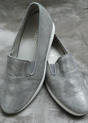 Туфли,мокасины кожаные жен .37р.gabor словения