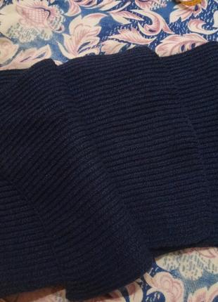 Шарф мужской цвета синий джинс