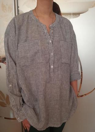Льняная рубашка лен бохо
