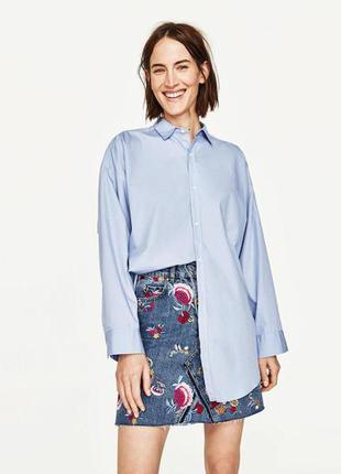Джинсовая юбка с вышивкой от zara