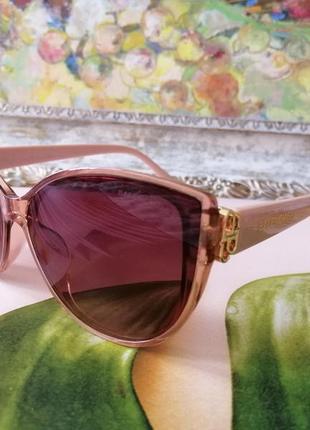 Элегантные розовые пудровые брендовые солнцезащитные женские очки 2021