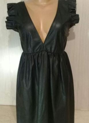 Кожанное платье,можно носить отдельно или чехол